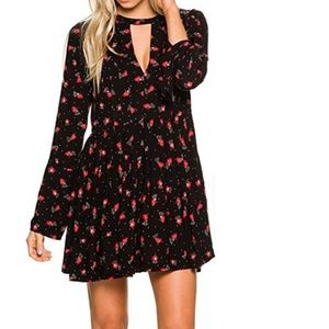 Free People Tegan Printed Mini Dress Sz. 6 NWT